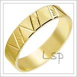 Snubní prsteny LSP 2744 žluté zlato