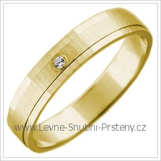 Snubní prsteny LSP 2745 žluté zlato