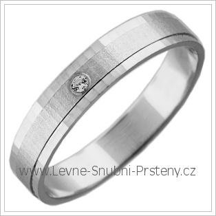 Snubní prsteny LSP 2745b bílé zlato