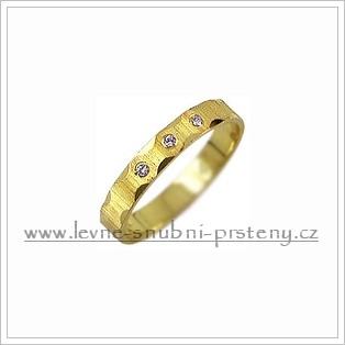 Snubní prsteny LSP 2749 žluté zlato s diamanty