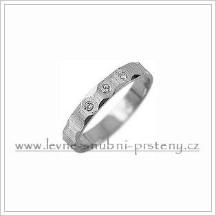 Snubní prsteny LSP 2749b bílé zlato