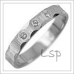 Snubní prsteny LSP 2749bz bílé zlato