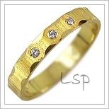 Snubní prsteny LSP 2749z žluté zlato se zirkony