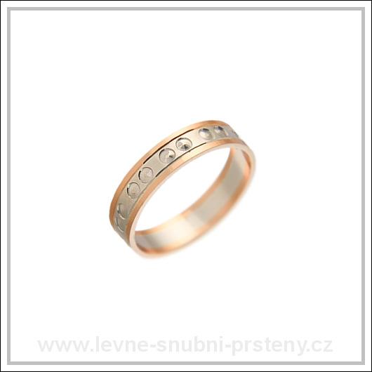 Snubní prsteny LSP 2751 kombinované zlato