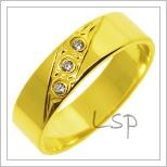 Snubní prsteny LSP 2753 žluté zlato