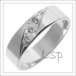 Snubní prsteny LSP 2753b bílé zlato
