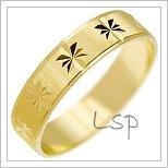 Snubní prsteny LSP 2759 žluté zlato
