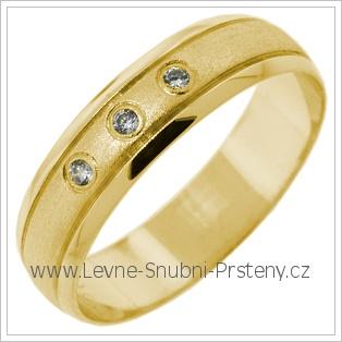 Snubní prsteny LSP 2760 žluté zlato