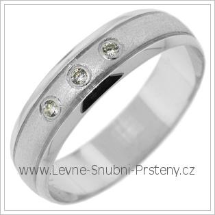 Snubní prsteny LSP 2760b bílé zlato