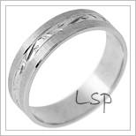 Snubní prsteny LSP 2764 - bílé zlato