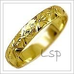 Snubní prsteny LSP 2765 žluté zlato