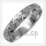 Snubní prsteny LSP 2765b bílé zlato
