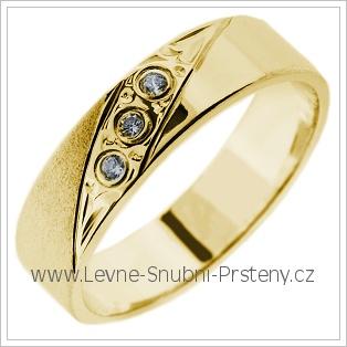Snubní prsteny LSP 2766 žluté zlato