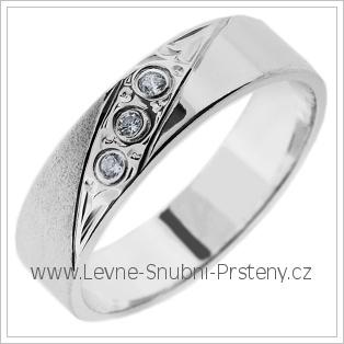Snubní prsteny LSP 2766b bílé zlato
