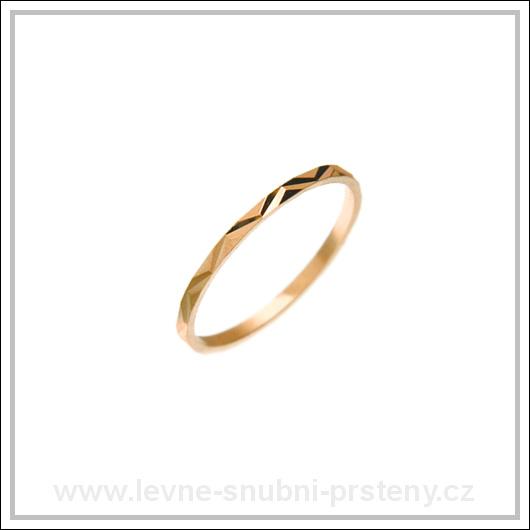 Snubní prsteny LSP 2768 červené zlato