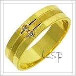Snubní prsteny LSP 2769 žluté zlato