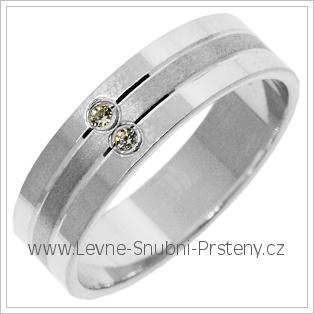 Snubní prsteny LSP 2769b bílé zlato