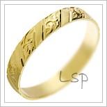 Snubní prsteny LSP 2778 žluté zlato