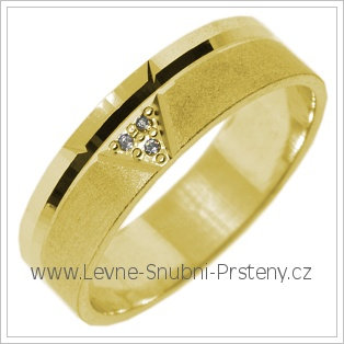 Snubní prsteny LSP 2779 žluté zlato