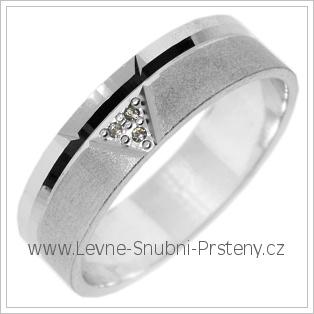 Snubní prsteny LSP 2779b bílé zlato