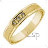 Snubní prsteny LSP 2782 žluté zlato
