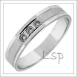 Snubní prsteny LSP 2782b bílé zlato