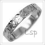 Snubní prsteny LSP 2783b bílé zlato