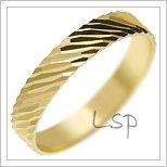 Snubní prsteny LSP 2785 žluté zlato