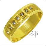 Snubní prsteny LSP 2787 žluté zlato