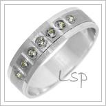 Snubní prsteny LSP 2787b bílé zlato
