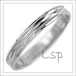 Snubní prsteny LSP 2791b bílé zlato