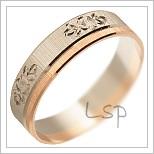 Snubní prsteny LSP 2793 kombinované zlato
