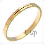 Snubní prsteny LSP 2799 kombinované zlato