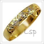 Snubní prsteny LSP 2803 žluté zlato s diamanty