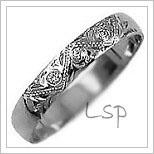 Snubní prsteny LSP 2803b bílé zlato