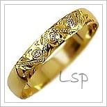 Snubní prsteny LSP 2803z žluté zlato se zirkony
