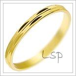 Snubní prsteny LSP 2804 žluté zlato