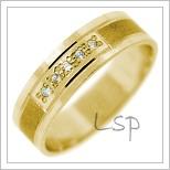 Snubní prsteny LSP 2805 žluté zlato