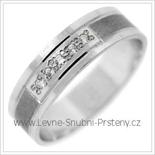 Snubní prsteny LSP 2805b bílé zlato