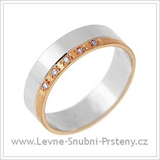 Snubní prsteny LSP 2806 - kombinované zlato