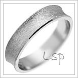 Snubní prsteny LSP 2810 bílé zlato