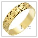 Snubní prsteny LSP 2811 žluté zlato