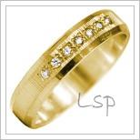 Snubní prsteny LSP 2814 žluté zlato