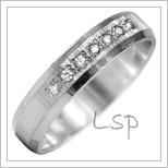 Snubní prsteny LSP 2814b bílé zlato