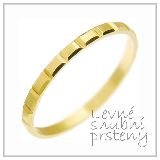 Snubní prsteny LSP 2816 žluté zlato