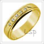 Snubní prsteny LSP 2823 žluté zlato