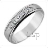 Snubní prsteny LSP 2823b bílé zlato