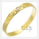 Snubní prsteny LSP 2824 žluté zlato
