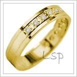 Snubní prsteny LSP 2825 žluté zlato