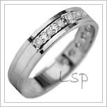 Snubní prsteny LSP 2825b bílé zlato